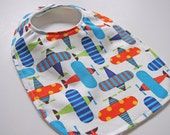 CLOSEOUT SALE - Organic Collection Baby-Toddler Bib - Up Up and Away
