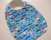 CLOSEOUT SALE - Organic Collection Baby-Toddler Bib - Traffic Jam