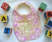 CLEARANCE SALE - Eco Collection Pressed Flower Baby/Toddler Bib