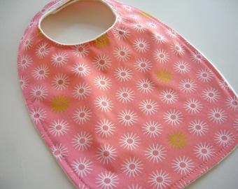 CLOSEOUT SALE - Organic Collection Baby/Toddler Bib-Pink Starburst