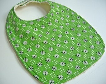 CLEARANCE SALE - Green Retro Baby/Toddler Bib