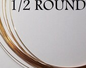 Remnant 22 ga. 1 ft. 11in. 14kt GOLD FILLED  - half round 1/2 round, half hard