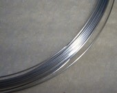 20 ga. 5 ft.  ARGENTIUM STERLING SILVER Wire Round, Half Hard .  Anti Tarnish 20g