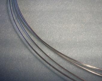 18 ga. 2 ft.  ARGENTIUM STERLING SILVER Wire Round, Half Hard Anti Tarnish