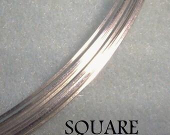 16 ga. 2 ft. ARGENTIUM STERLING SILVER wire, square half hard  Anti Tarnish