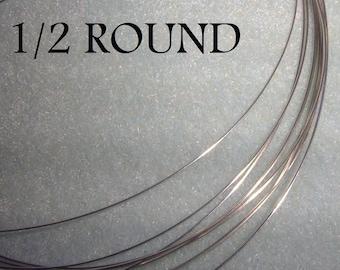 20 ga. 5 ft.  ARGENTIUM STERLING SILVER Wire Half Round 1/2 round, Dead Soft Anti Tarnish 20g