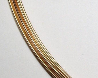 Remnant 21 ga. 2 ft.  10 in. 14kt GOLD FILLED  Wire Round, Half Hard   Perfect for making earwires