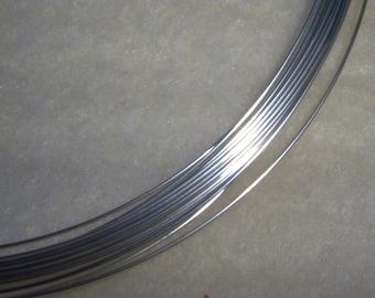 22 ga. 20 ft. ARGENTIUM STERLING SILVER Wire Round, Dead Soft Anti Tarnish