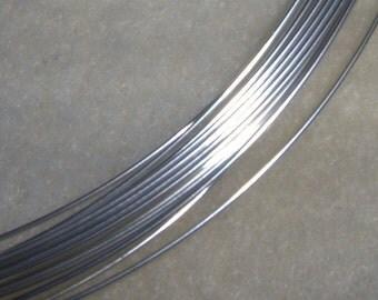 24 ga. 10 ft.  ARGENTIUM STERLING SILVER Wire Round, Half Hard anti tarnish