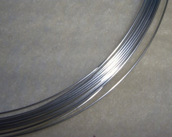 24 ga. 5 ft. ARGENTIUM STERLING SILVER Wire Round, Dead Soft Anti Tarnish