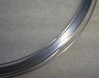 20 ga. 5 ft.  ARGENTIUM STERLING SILVER Wire Round, Half Hard .  Anti Tarnish 20g