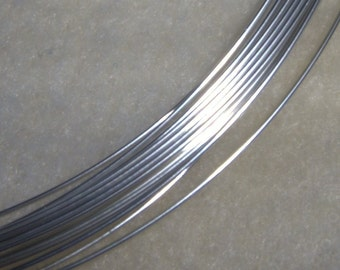 21 ga. 5 ft. ARGENTIUM STERLING SILVER Wire Round, Half Hard Anti Tarnish Perfect for making earwire