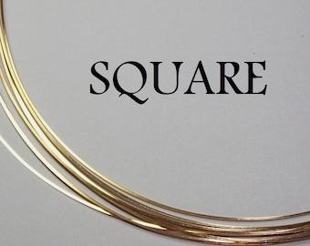 20 ga. 3 ft.  14kt GOLD FILLED Wire SQUARE Dead Soft 20g