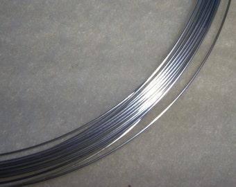20 gauge 10 ft. Argentium Sterling Silver Wire Round, Half Hard . Anti Tarnish 20g