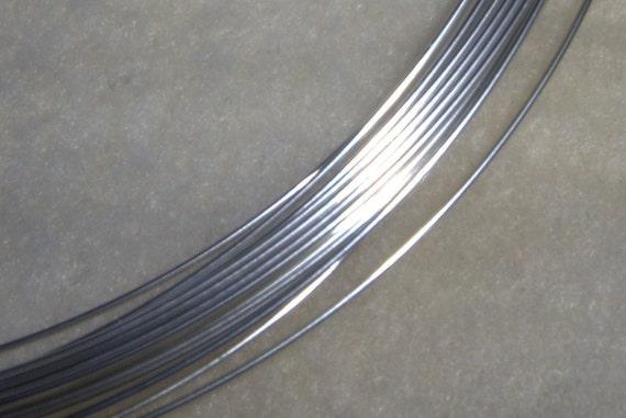 28 ga. 20 ft.  ARGENTIUM STERLING SILVER Wire Round, Dead Soft . Anti Tarnish
