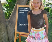 Reversible Crayon Apron Pattern-Toddler, Big Kid and Mommy sizes PDF