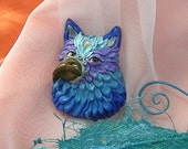 OOAK Handmade jewelery Gryphon mythological creature pin