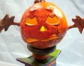 Halloween Jack o Lantern sculpture jack in the box Harry