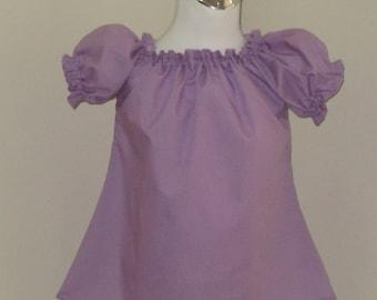 Lilac Peasant Top 12M To 7, Girl Peasant top, Girl Top, Toddler Blouse, Purple Girl Top