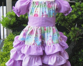 Custom Boutique Triple Ruffle Fairy Tale Peasant Dress