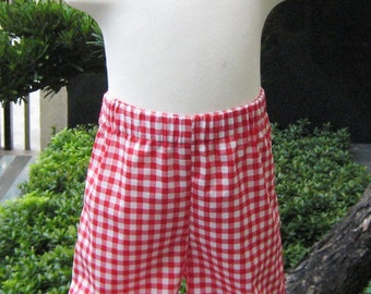 Girl Ruffle Pant, Toddler Ruffle Pant, Red Gingham Double Ruffles Pant, Red Ruffle Pant, Red and White Girl Ruffle Pant, Christmas Pants