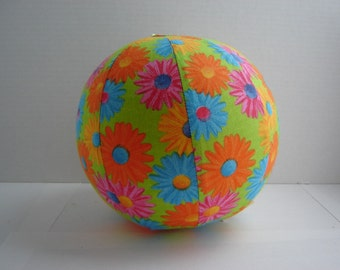 Balloon Ball with Drawstring Pouch-Crazy Daisy (Ball 84)