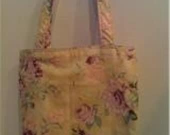 Small Tote-Peonies (Bag 309)