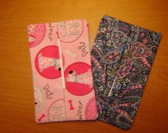 Tissue Cozy-Your choice (Pink Doggie or Blue Paisley)