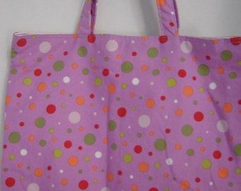 Large Tote-Dots on Lilac (Bag 351)