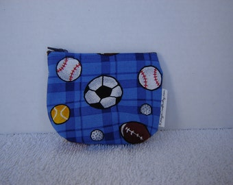 Mini Zippered Pouch-Sports Balls (Mini 59)