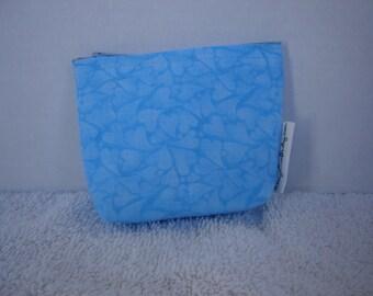 Mini Zippered Pouch-Blue Hearts on Blue (Mini 100)