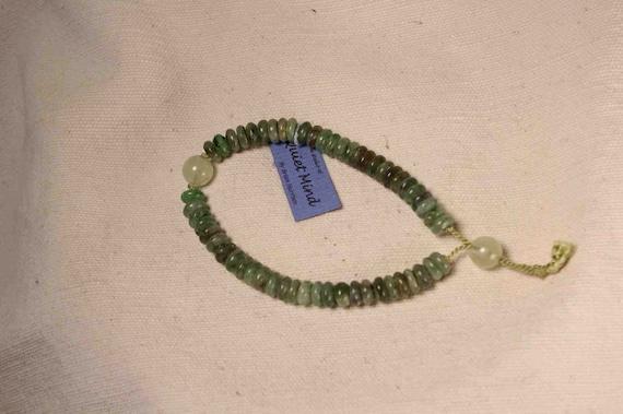 Green Kyanite and Prehnite Mala Beads Bracelet