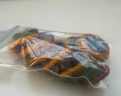 Bag of Mixed Glass Rounds (Red, Yellow, and Blue)