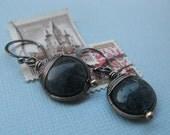 Azure Basketweave Earrings