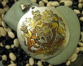RESERVED for Fluerdamour - RARE Reed and Barton Damascene Royal Coat of Arms Pendant