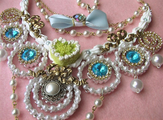 SALE Marie Antoinette Royal Dolly Necklace rococo