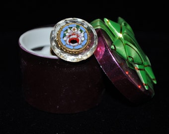 Vintage Recreated Mosaic Vintage jewelry and Button Ring