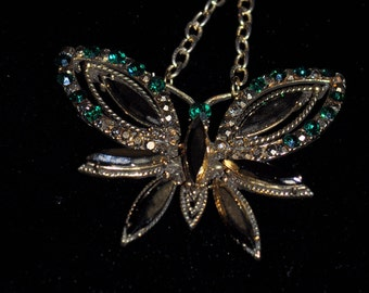Golden Butterfly Necklace Recreated from Vintage Jewelry