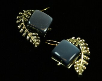 A Touch of Blue Earrings Recreated from Vintage Costume Jewelry
