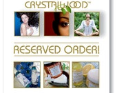 RESERVED ORDER for Kissedbyclover Only Please