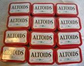 12 Altoid Tins