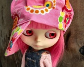 dolly molly PINK euro hat for blythe doll