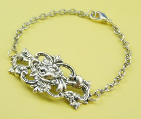Verona filigree bracelet antique style silver finish