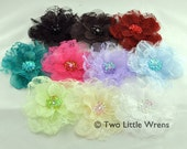 Olivia Flower Hair Clip - Your Choice of Color - Baby Hair Clip to Adult Hair Clip - SPRING SALE - See Shop