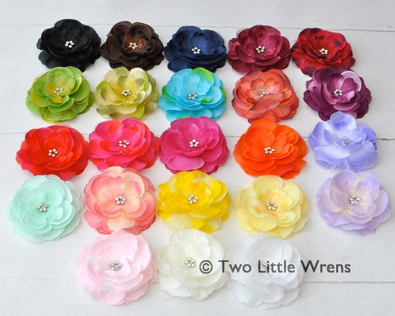 Isabella Flower Hair Clip - Your Choice of Color - Baby Hair Clip to Adult Hair Clip - SPRING SALE - See Shop