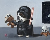 The Ultimate Boston Terrier Star Wars Dog Art Print Set