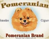 Pomeranian cigar label print