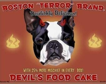 Boston Terrier Devil's Food Cake