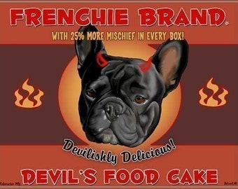Devil's Food Cake - French Bulldog art print