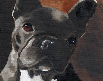 French Bulldog Art Print From Original Oil Painting